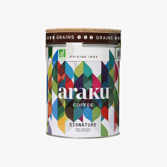 Café en grains Signature, origine Inde Araku