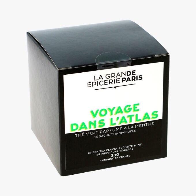 Voyage dans l'atlas - thé vert parfumé à la menthe 15 sachets individuels La Grande Épicerie de Paris