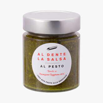 Al Pesto, basilic et parmiggiano reggiano AOC Al dente la salsa