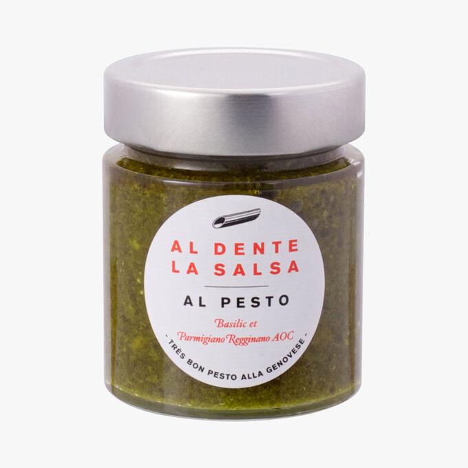 Al Pesto, basil and Parmiggiano Reggiano AOC Al dente la salsa