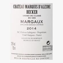 Château Marquis D'Alesme, PDO Margaux, 2014 Château Marquis D'Alesme