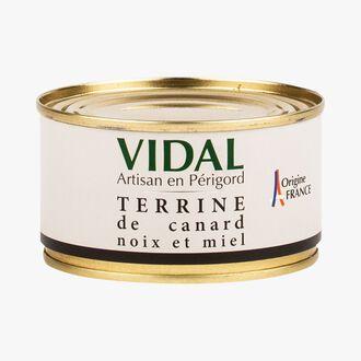 Terrine de canard noix et miel Vidal