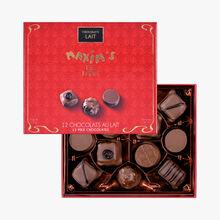 Exclusive assortment of 12 milk chocolates Maxim's
