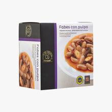 Fabes with octopus El Corte Inglés - Club del Gourmet