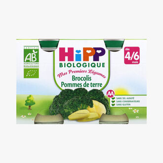 Vegetable puree for babies: broccoli and potatoes HiPP