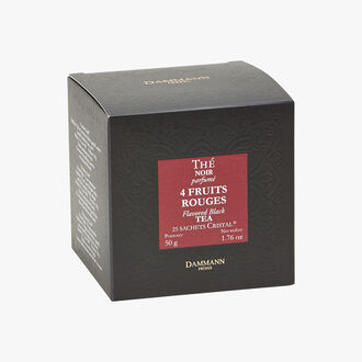 Black tea flavoured with 4 red fruits - Box of 25 teabags Dammann Frères