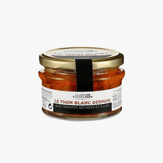 Albacore tuna in extra virgin olive oil with sundried tomatoes and garlic La Grande Épicerie de Paris