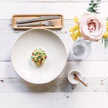 Ceviche de daurade, jardin de fleurs Recette proposée par Beatriz Gonzalez