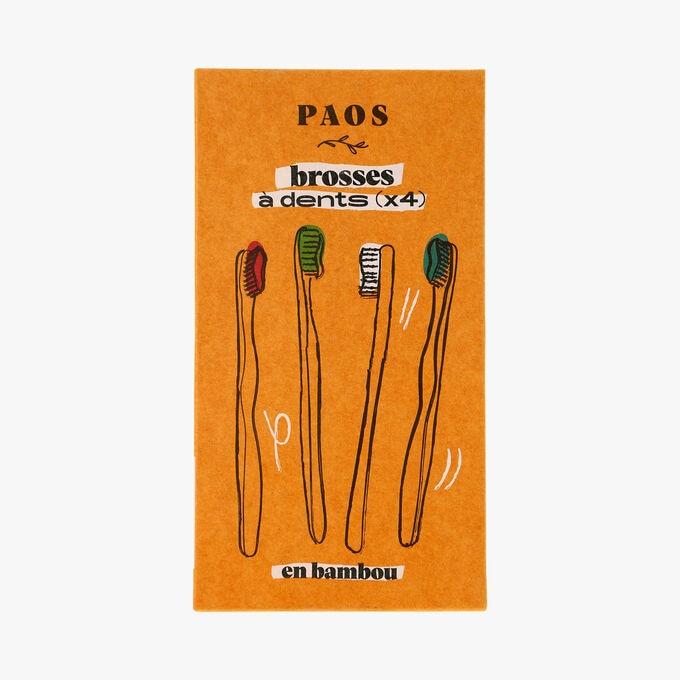 Brosses à dents en bambou x 4 Paos