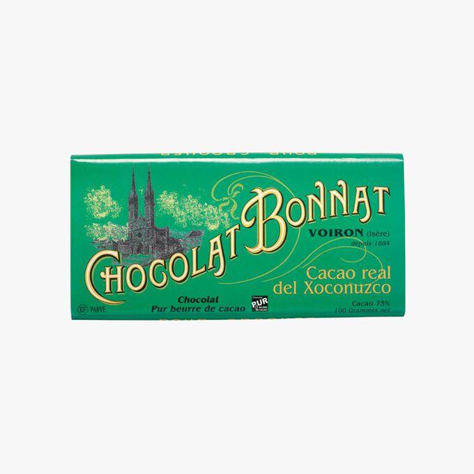 Tablette Real Del Xoconuzco chocolat noir 75 % de cacao Bonnat