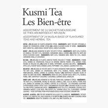 Les Bien-être étui carton 24 sachets mousseline Kusmi Tea