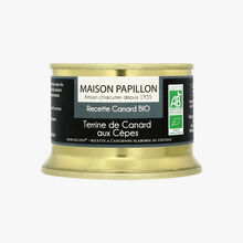 Organic duck terrine with ceps Maison Papillon