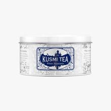 White Anastasia metal tin Kusmi Tea