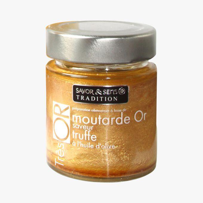 Préparation alimentaire à base de moutarde Or saveur truffe blanche à l'huile d'olive Savor & Sens