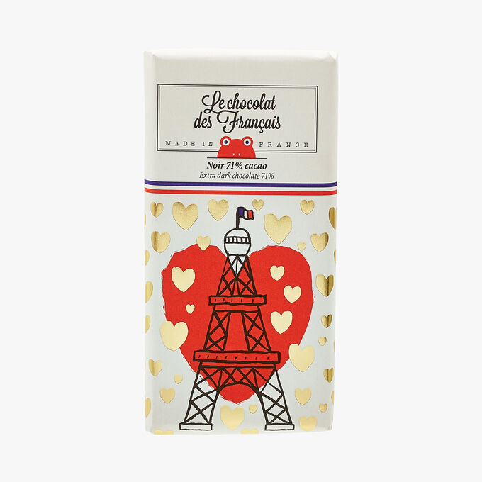 Dark chocolate with 71% cocoa – Illustration by The Great PHM Le Chocolat des Français