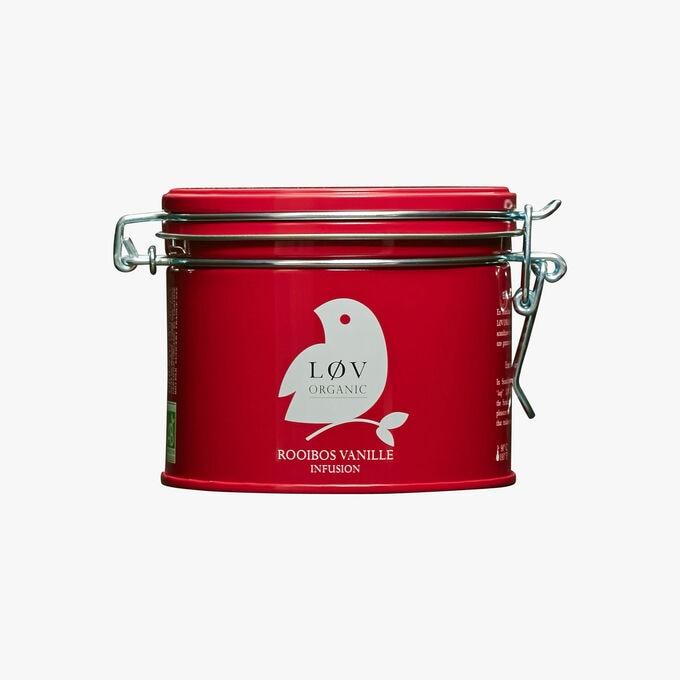 Vanilla rooibos, metal tin Lov Organic