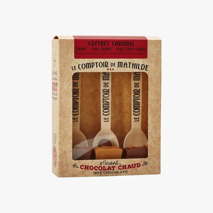 Le véritable chocolat chaud - coffret caramel Le Comptoir de Mathilde
