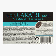 Noir Caraïbe, dark cooking chocolate 66 % Valrhona