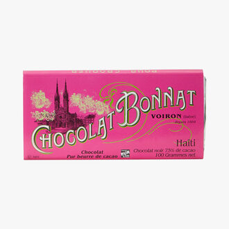 Chocolat noir 75 % de cacao Haïti Bonnat