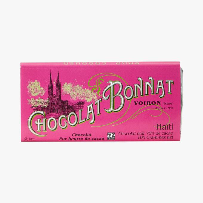 Tablette Haïti chocolat noir 75% de cacao Bonnat