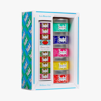 Wellness gift set of 5 metal tins Kusmi Tea