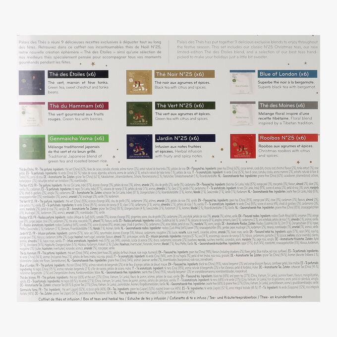Coffret de 54 sachets mousselines thés des fêtes  Palais des Thés