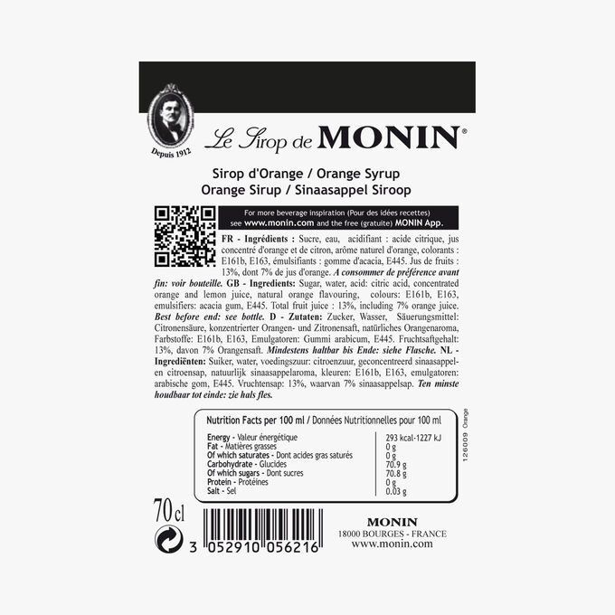 Orange cordial Monin