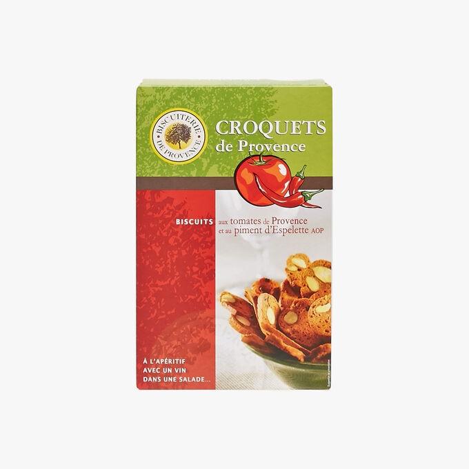 Provence tomato and AOP Espelette chili croquets Biscuiterie de Provence