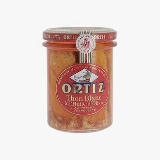White tuna with olive oil and Espelette chilli Ortiz
