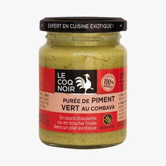 Green chili puree with kaffir lime Le Coq Noir