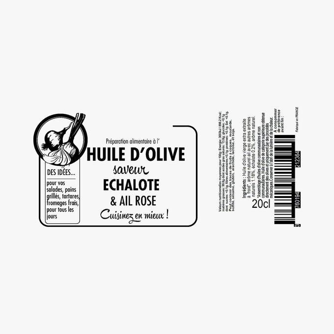 Préparation alimentaire à l'huile d'olive saveur échalote et ail rose Savor & Sens