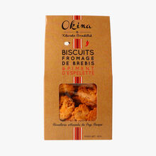 Ewe's cheese biscuits with Espelette chilli Okina
