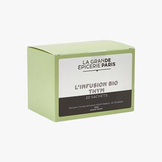 Organic thyme herbal infusion 20 sachets La Grande Épicerie de Paris