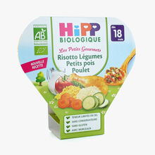 A wholesome main meal for toddlers – Risotto with vegetables, peas and chicken HiPP