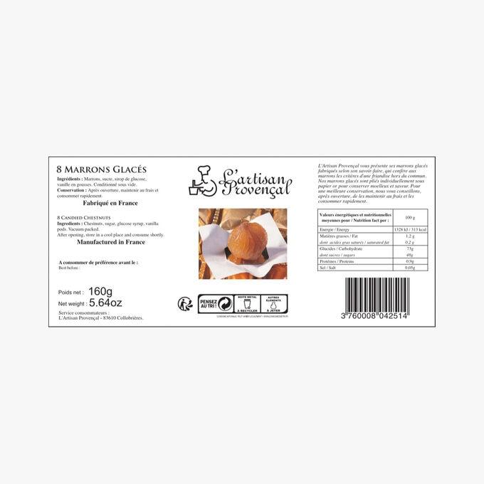 Paris tin – 8 candied chestnuts Corsiglia