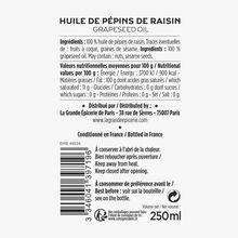 Huile de pépins de raisin La Grande Épicerie de Paris