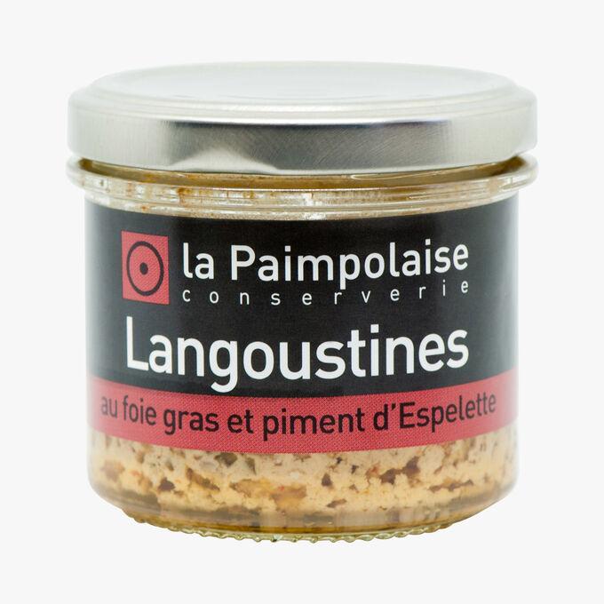 Langoustines au foie gras de canard (5 %) et piment d'Espelette La Paimpolaise Conserverie