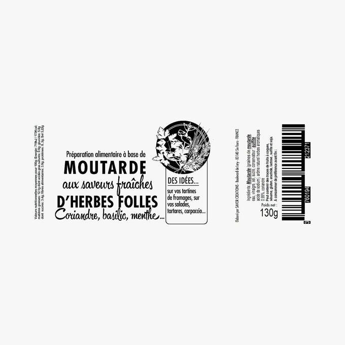 Wild herb mustard with coriander, basil, mint Savor et Sens