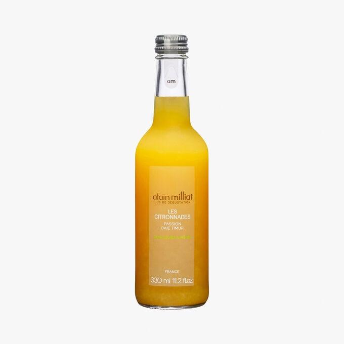 Organic lemon passion fruit drink Alain Milliat