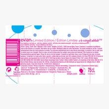 Eau Minérale Naturelle Evian x Virgil Abloh en édition limitée Evian