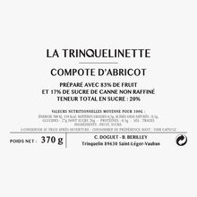 Compote d'abricot La Trinquelinette