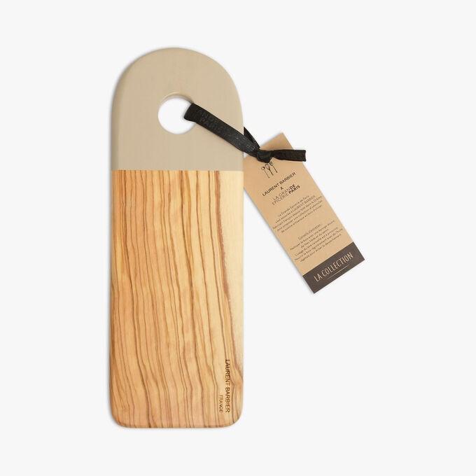 Planche à découper Camargue en bois d'olivier, argile La Grande Épicerie de Paris