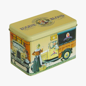 Fun wafer biscuits in souvenir gift box Biscuiterie Eugène Blond