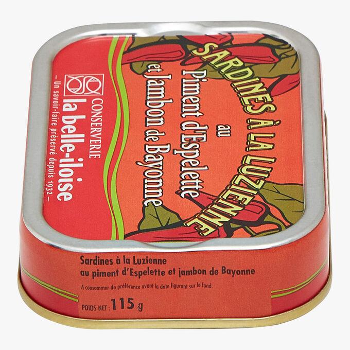 Luzienne sardines with Espelette chilli and Bayonne ham Conserverie la Belle-Iloise