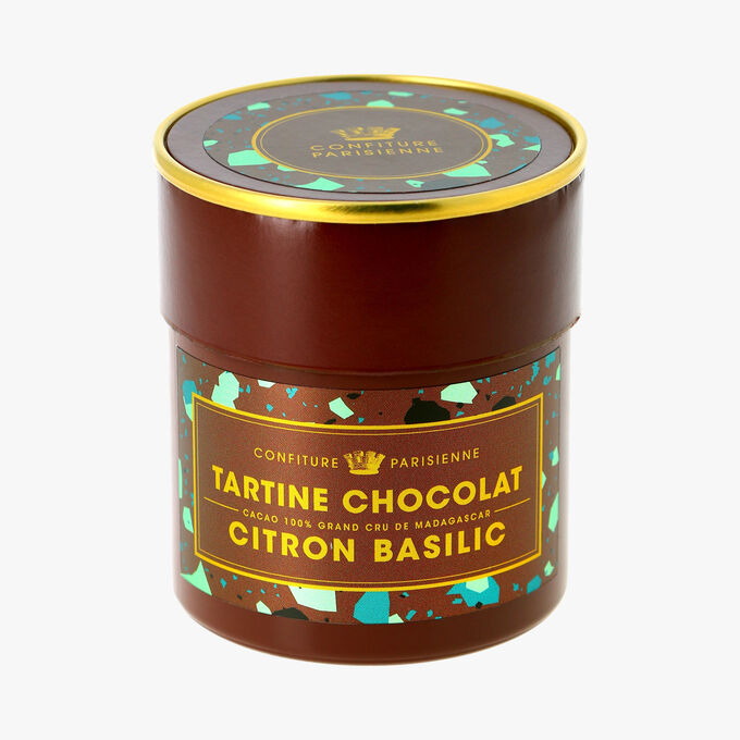 Tartine chocolat, citron basilic Confiture Parisienne