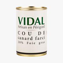 Stuffed duck neck, 20% foie gras Vidal