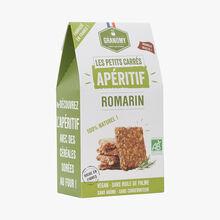 Les petits carrés apéritifs au romarin Granomy