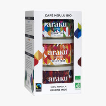 Café moulu bio 100% Arabica Araku Coffee