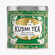 Spearmint Green Tea, metal tin Kusmi Tea