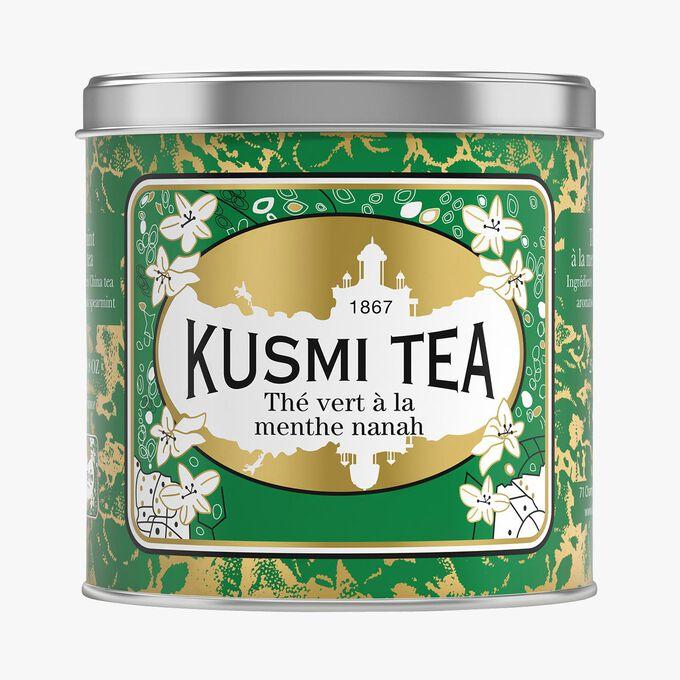 Thé vert à la menthe boîte métal Kusmi Tea